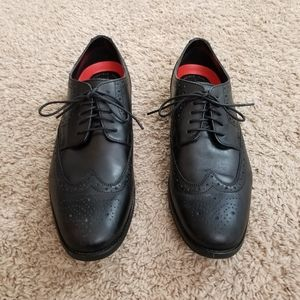 Rocport mens leather dress shoes Wingtip sz 10 W